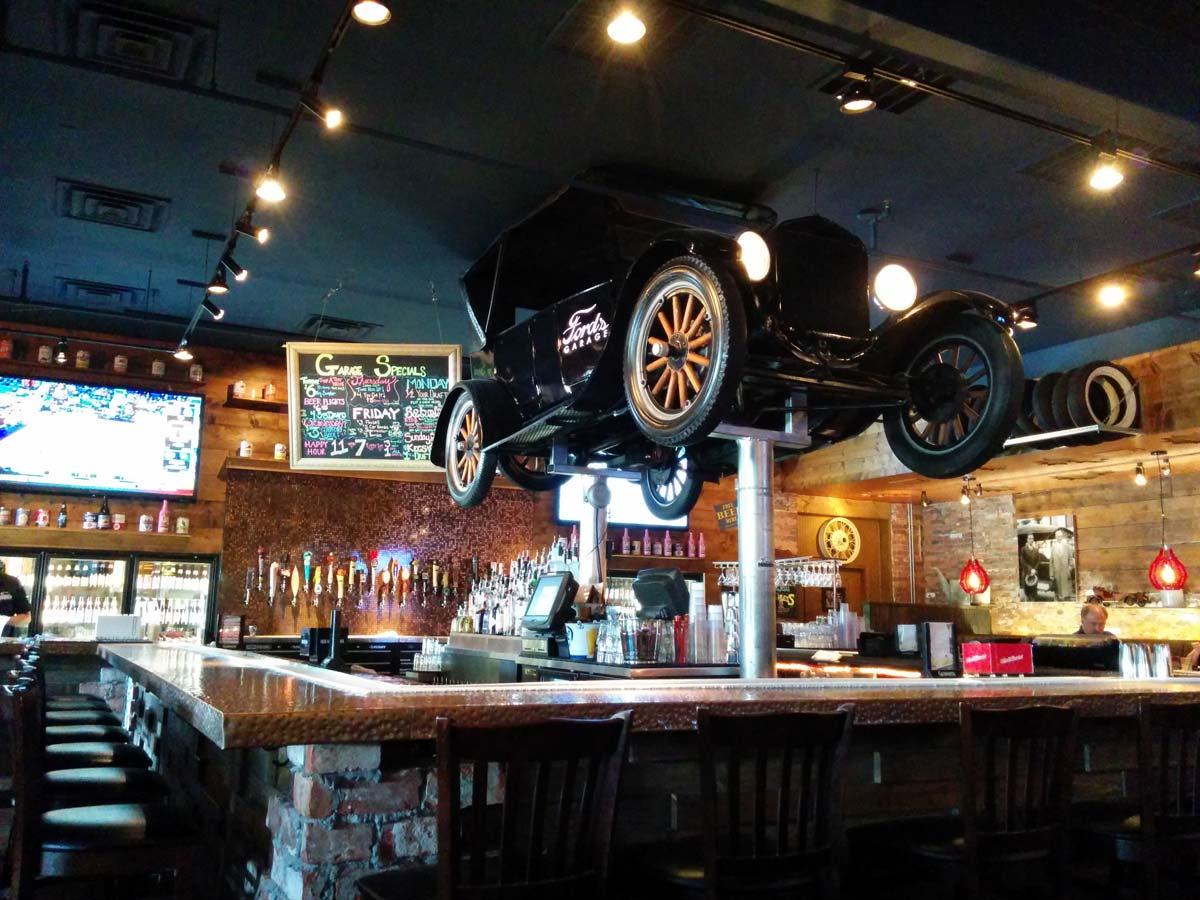 Fords Garage Bar Model T
