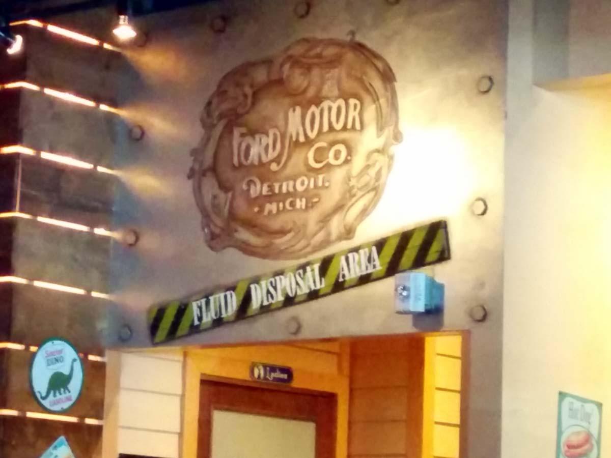 Fords Garage Restroom Fluid Disposal Area