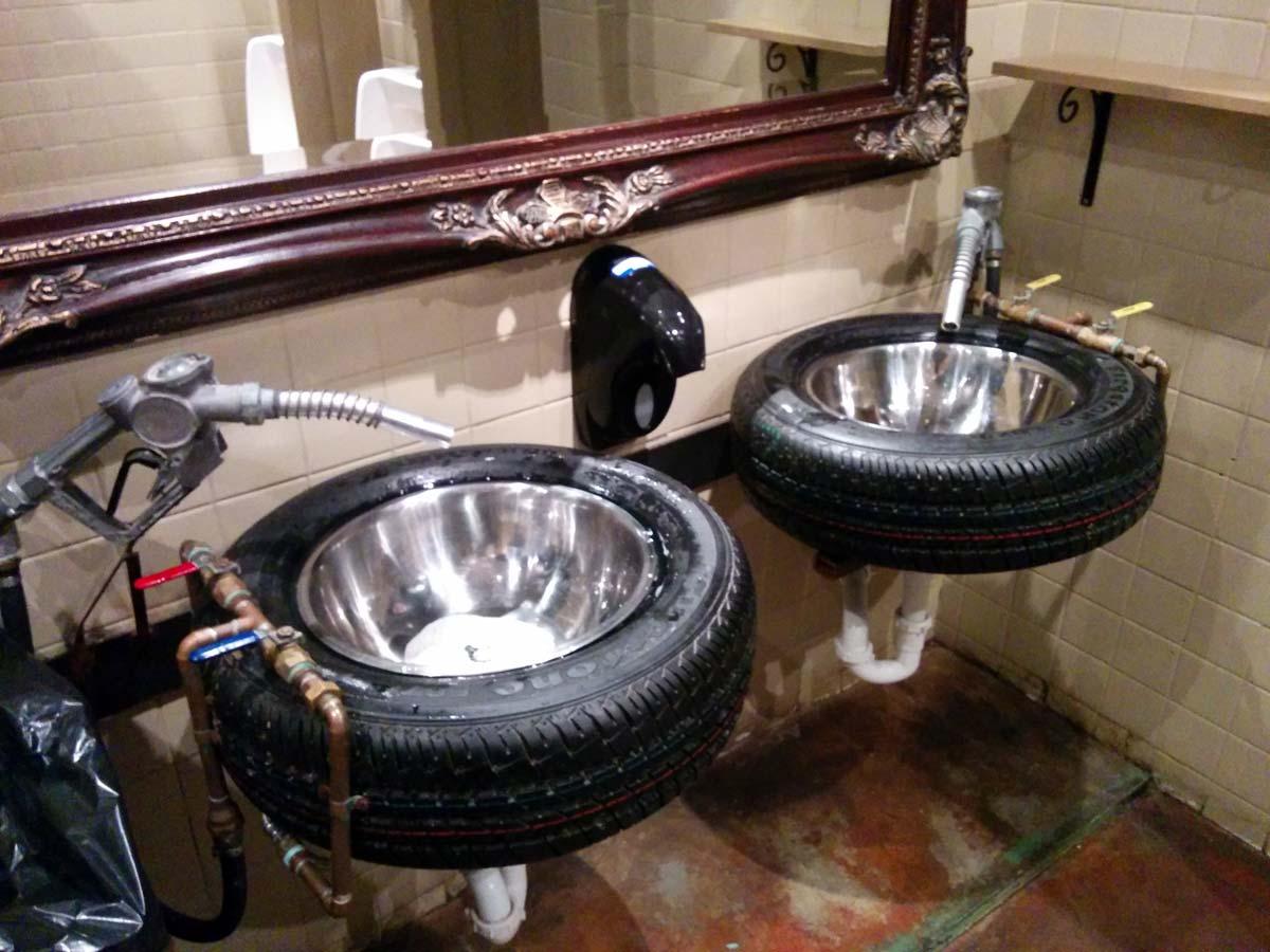 Fords Garage Restroom Sinks