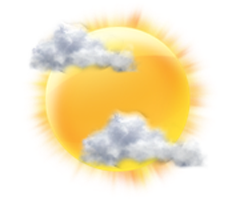 Partly Cloudy Sunny Day
