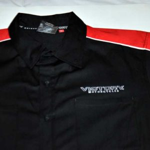 Victory Motorcycles Dealer Pit Shirt Front Close-Up