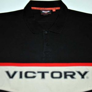 Victory Motorcycles Embroidered Polo Front Close-Up
