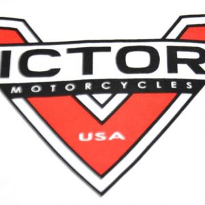 Victory Motorcycles White Logo Men's XL Tee Front Logo