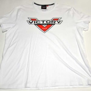 Victory Motorcycles White Logo Men's XL Tee